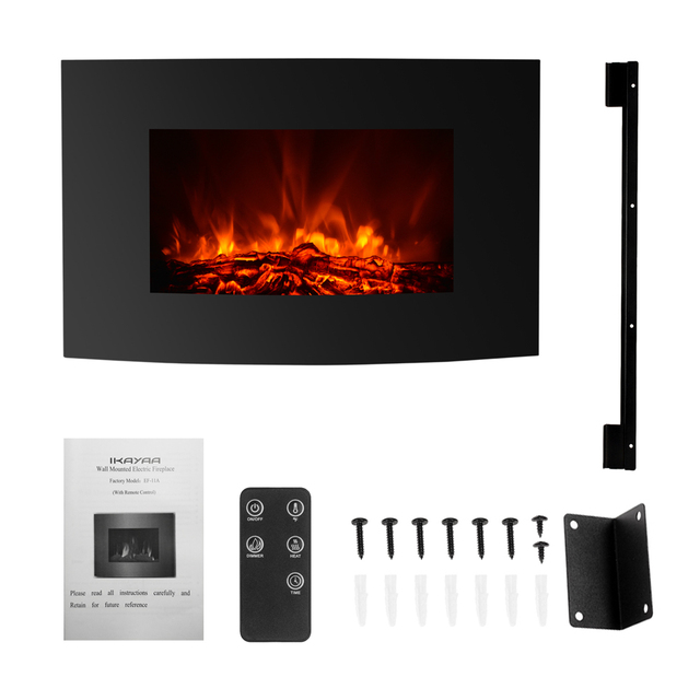 Cool Us 109 0 20 Off 1500W Large 35 22 Electric Wall Mount Fireplace 3D Flame Heater With Remote Control Heat Setting Fire Place In Electric Fireplaces Interior Design Ideas Gentotryabchikinfo