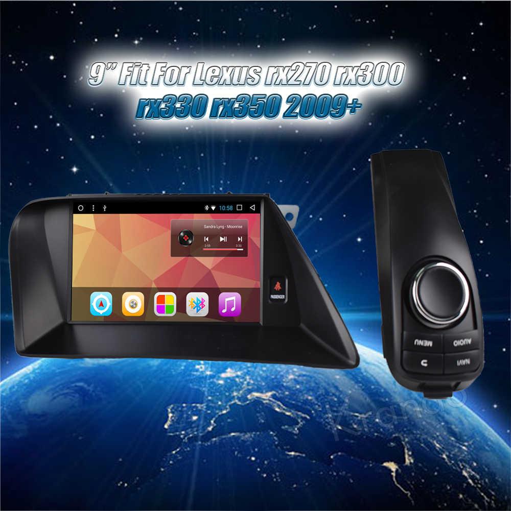 """Krando Android 7.1 9 """"IPS pełny ekran dotykowy samochodu odtwarzacz multimedialny nawigacja gps dla Lexus rx270 rx300 rx330 rx350 2009- 2014"""