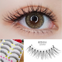 ICYCHEER 10Pairs Mink Hair False Eyelashes Natural/Thick Long Eye Lashes Wispy Makeup Messy Winged Extension Tools Wimpers