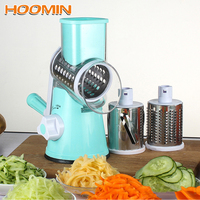 HOOMIN Vegetable Fruit Cheese Cutter Slicer Potato Carrot Chopper Manual Rotating Grater Multi function Kitchen Gadget Tools
