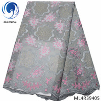 BEAUTIFICAL nigerian swiss voile lace 2019 switzerland cotton lace fabric afrian dry lace for garment ML4R394