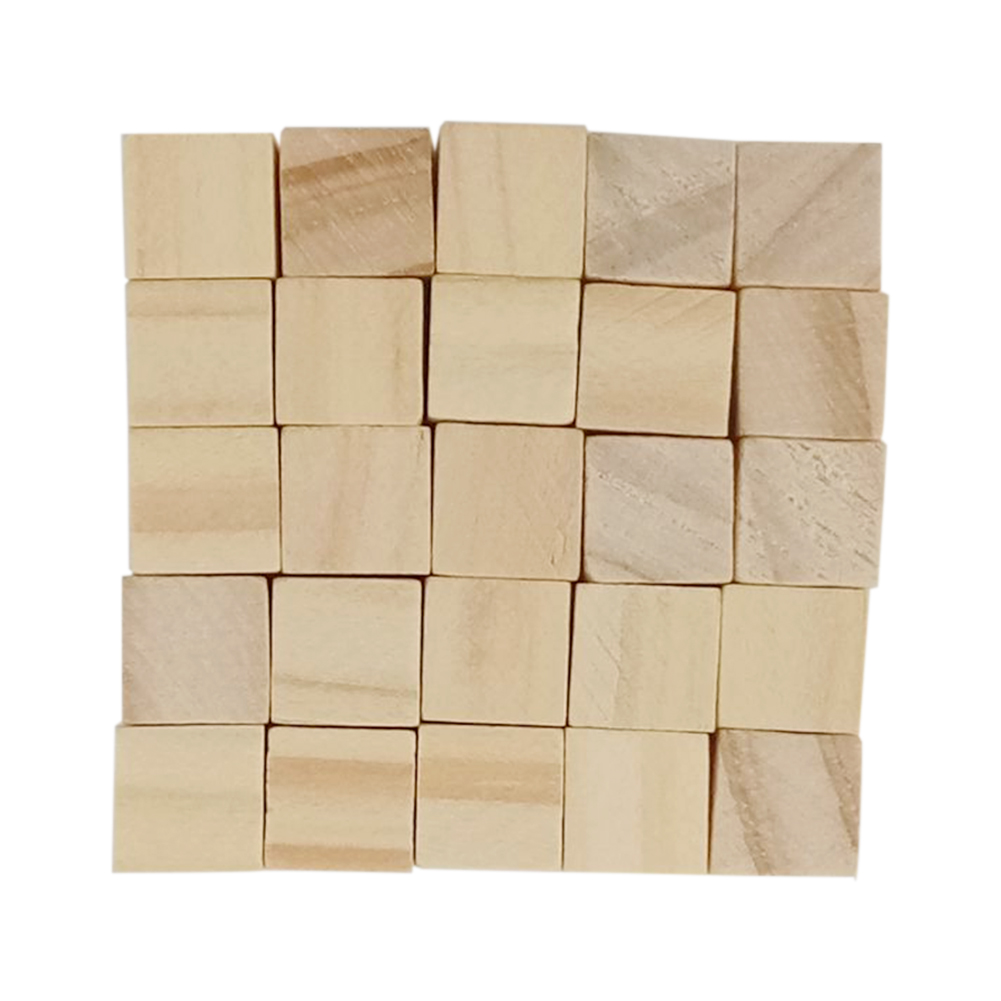 Mini DIY Wooden Square Blocks Crafts Children Decoration Cubes Embellishment Gift Toy
