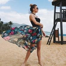 Korean style floral printed elegant dresses 2019 streetwear backless harajuku dress summer maxi plus size boho beach
