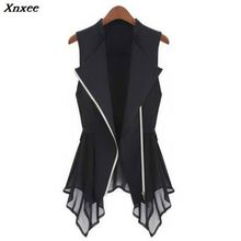 Xnxee Plus Size Long Vest Womens Spring Summer Outwear New Women Coat Europe sleeveless Cardigan Top Jackets Outerwear