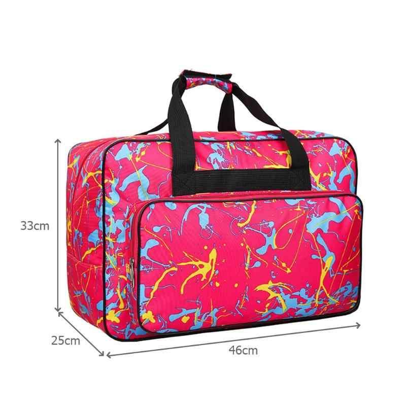Multifuncional de gran capacidad de la máquina de coser bolsa de almacenamiento portátil de viaje bolsas de la máquina de coser herramientas de coser bolsos de mano más nuevo
