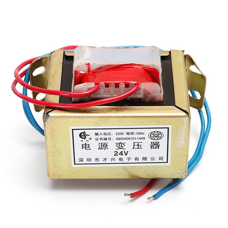 80W AC 220V To 24V Single Low Frequency E Type Isolation Small Power Transformer Module