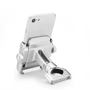 Image 3 - 360 Degree Motorcycle Handlebar Mount Holder For 4 6 Cell Phone GPS Silver