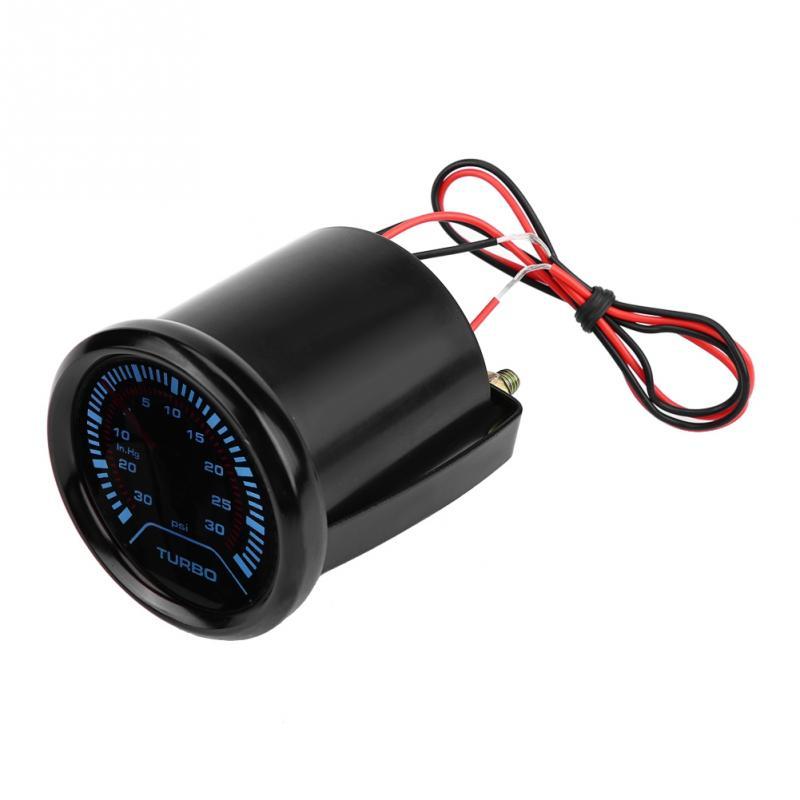 Универсальный 52 мм Автомобильный дымовой циферблат с турбонаддувом, турбонаддувом, манометр с турбонаддувом