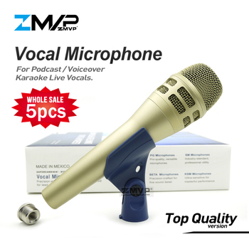 5pcs/lot Top Quality KSM8 Professional Live Vocals KSM Dynamic Wired Microphone Karaoke Supercardioid Podcast Microfono Mike Mic