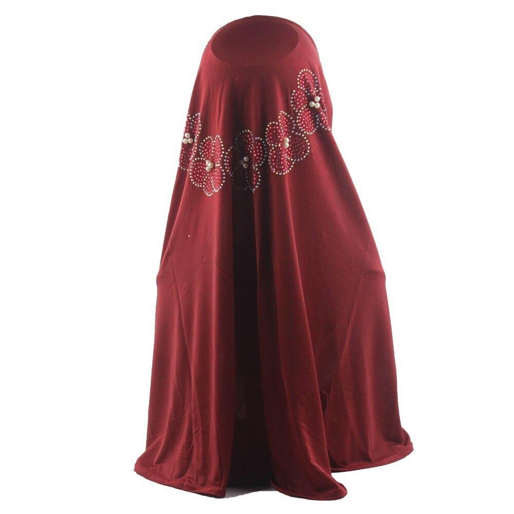 Image 3 - Muslim Women Hijab Islamic Scarf Woman Amira Cap Full Cover  Headwear with Flower Diamond PatternIslamic Clothing