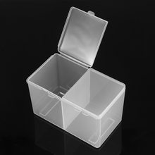 1pc Holder Organizer Container Gel Polish Remover Cleaning Cotton Pad Swab Storage Box Organizer For Make Up(China)