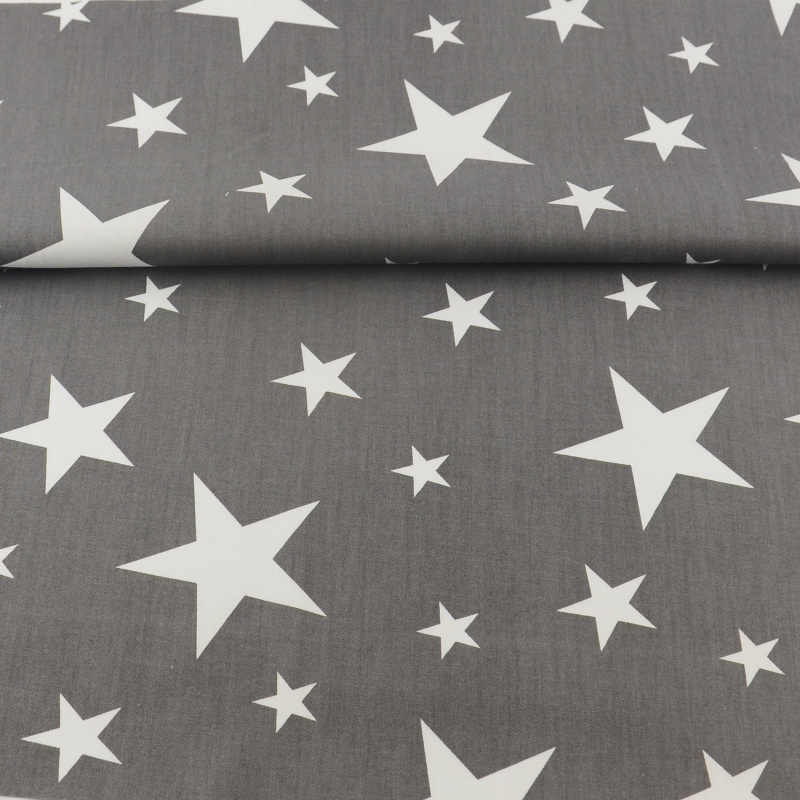 TERAMILA fabric Light Grey Stars Style  Sewing Quilting Twill Patchwork Description Dress Baby Textile High Quality  tissue