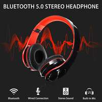 bluetooth 5.0 Wireless Stereo Foldable Headphones Headset With Microphone FM TF Card  3.5mm AUX USB for iPhone for Xiaomi Phone