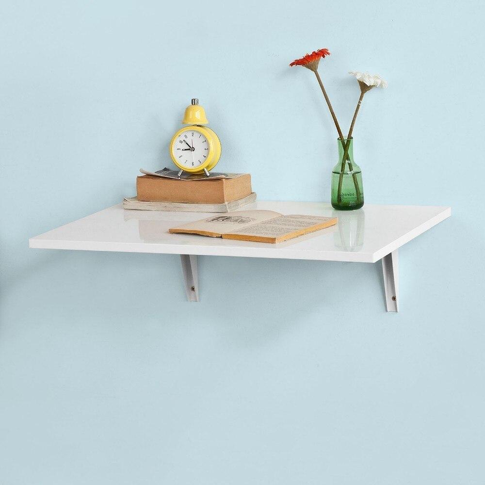 SoBuy FWT21-W, Table pliante murale, cuisine et Table à manger, Table pour enfants