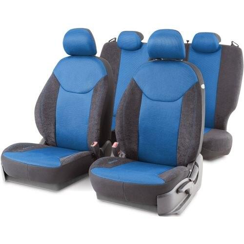 Cushion Cover Автопрофи DIN-1505VM BK/BL DINAMICA, suede + mesh air mesh, 15 предм, pocket, 6 zippers, AIRBAG, чер/Blue split mesh skirt cover up