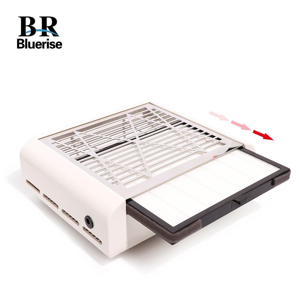 40 watts collecteur de poussière d'ongle manucure Machine d'aspiration perceuse à ongles poussière ongle saleté professionnel puissant aspirateur ventilateur