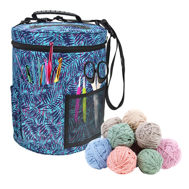 Nice Small Canvas Cylinder Woolen Yarn Storage Bag Home Crochet Hooks Thread Yarn Storage Bag Diy Sewing Kit Bag Exquisite Traditional Embroidery Art Arts,crafts & Sewing Home & Garden
