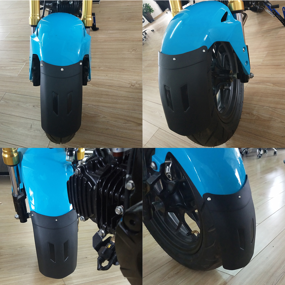 Blanco Negro Guardabarros Delantero Extensor Universal para Motocicleta