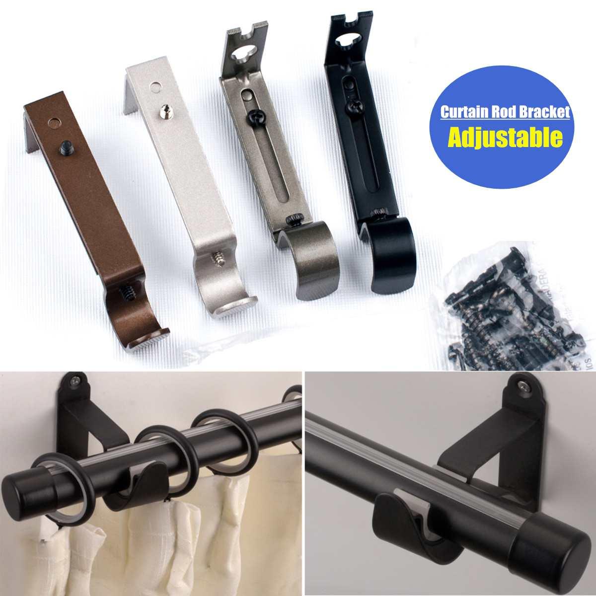 """Einstellbare Metall Eisen Metall Vorhang Stange Halterung Halter Für 1 1/4 """"drapieren Stange Fitting Fenster-dressing Hardware Vorhang Zubehör"""