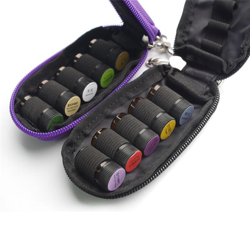 Estojo de óleo essencial para viagem, bolsa organizadora para armazenamento de 3ml com óleos essenciais, com 10 garrafas