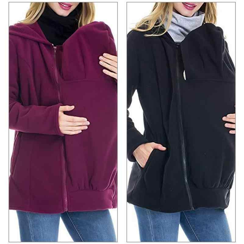 Кенгуру-мама свитер с капюшоном на осень и зиму, Женская удобная одежда, Детский свитер