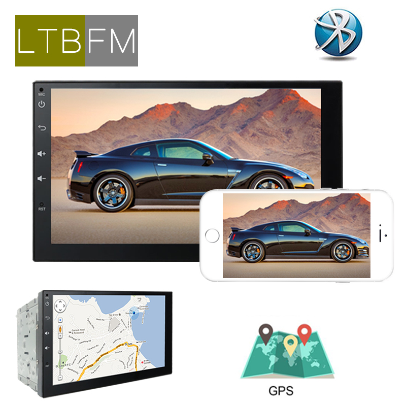 LTBFM 7inch HD Touch Screen Autoradio 2 din Android Car GPS Navigation Multimedia DVD Player Bluetooth Rear Camera Mirror Link