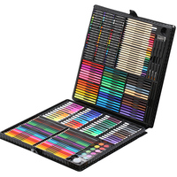 258in1 Color Pen Set Quality Stationery luxury Wooden Gift Pencil Painting Set Sketch Pens Kids Gift Set Stationery Tools