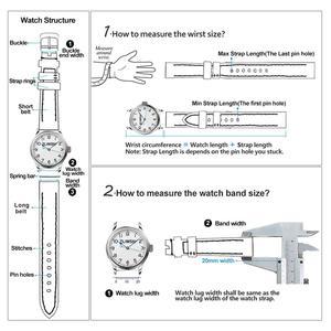 Image 4 - ZLIMSN בעבודת יד ייצור יוקרה תנין עור צפו בנד 12mm 26mm עגול תבואה פס חום תנין עור רצועת השעון