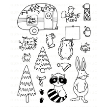 Tree Farm Transparent Clear Silicone Stamp/Seal for DIY scrapbooking/photo album Decorative clear stamp