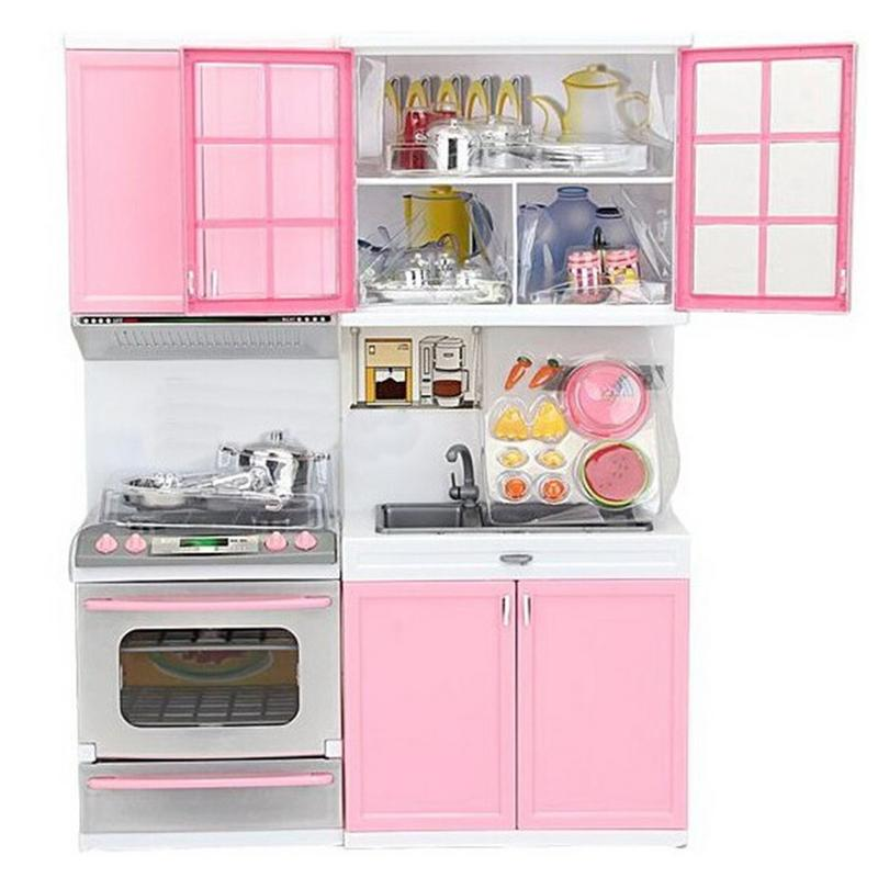 1 <font><b>Set</b></font> Children's Play House <font><b>Toys</b></font> Girl Cutlery <font><b>Set</b></font> Baby <font><b>Toys</b></font> <font><b>Kitchen</b></font> Cooking Simulation Pretend To Play Fun <font><b>Kitchen</b></font> Model image