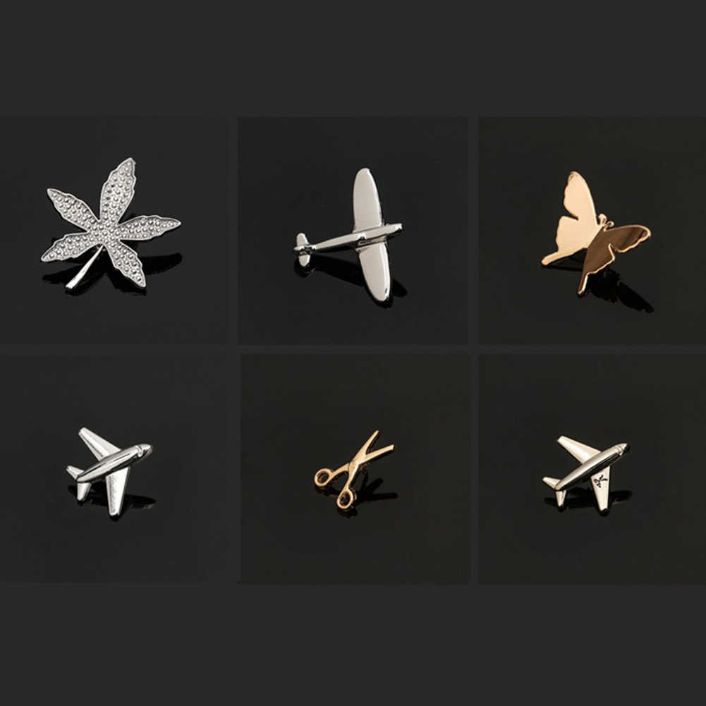 2019 Baru Pesawat Daun Kupu-kupu Kecil Bros Pin Unisex Maple Daun Kerah Pin Perapi Kemeja Kerah Pin Perhiasan Aksesoris
