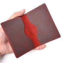 Новые поступления Для мужчин Кредитная карта ID держатель для карт в деревенском стиле натуральной кожи по индивидуальному заказу Бизнес мужской бумажник Карманный держатель для карт оптом