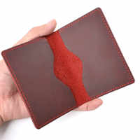 New Arrivals Men Credit ID Card Holder Rustic Cowhide Leather Customized Business Unisex Wallet Pocket Card Holder Wholesale
