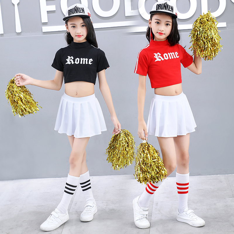 Songyuexia Children's Performance Clothing Cheerleading Childen Short-sleeved Sports Cheerleading Dancewear