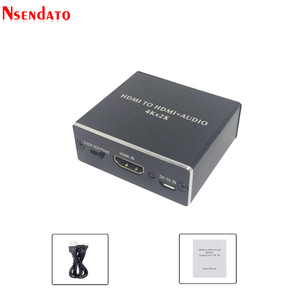 Image 5 - 4K x 2K HDMI vers HDMI + Audio 3.5mm convertisseur stéréo 5.1 canaux optique SPDIF Audio extracteur adaptateur séparateur pour PS4 HDTV STB PC