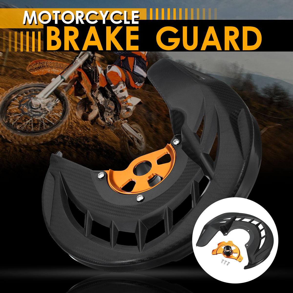 Motorcycle Front Brake Protector Cover Brake Disc Rotor Guard Brake For KTM 125-530 EXC/EXCF 03-15 125-530 SX/SXF/XC/XCF 03-14 motorcycle front brake disc rotor guard brake cover brake protector for ktm 125 530 sx sxf xc xcf 03 14 125 530 exc excf 03 15