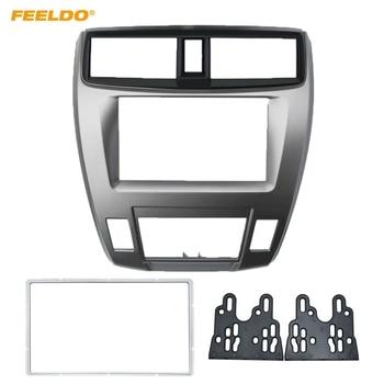 FEELDO Car 2DIN Audio Radio In-dash Fascia Frame For HONDA City Ballade Stereo Dash Panel Plate Frame Installation Kit #AM4930