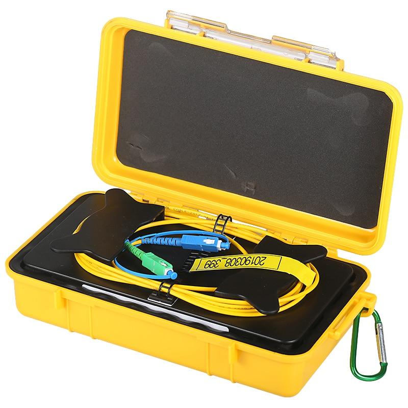 Livraison gratuite SC/UPC-SC/APC OTDR Zone Morte Eliminator, Anneaux De Fibers, fiber Optique OTDR Lancement Câble Boîte 1 km SM 1310/1550nm
