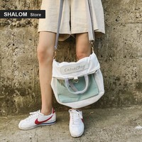 Recommend Many Function Both Shoulders Female Canvas Single Package Oblique Student Knapsack Tide bag women New Pattern