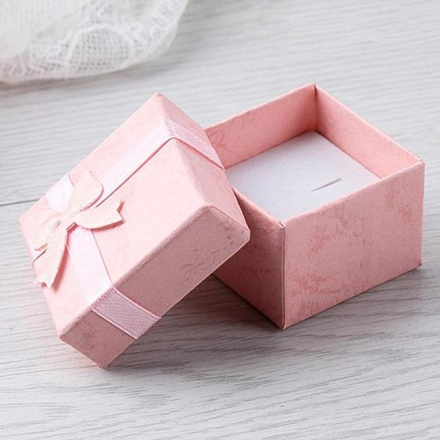 Us 0 48 25 Off Jewery Organizer Box Rings Storage Box Small Gift Box For Rings Earrings Random Colors Creative Earring Box In Gift Bags Wrapping