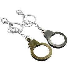 2pcs/Set Handcuffs Key Ring Retro Vintage Bag Pendant Bag Pendant Keyring Keychain Handcuffs Keyring For Couples Lovers(China)