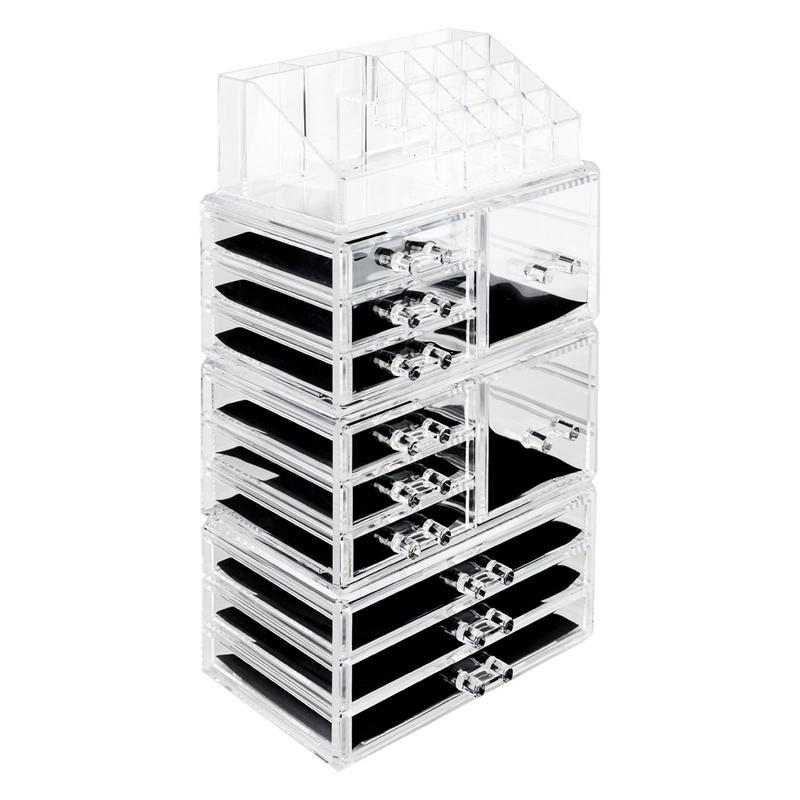 Haute qualité cosmétique boîte de rangement Transparent acrylique bijoux affichage boîte de rangement maison maquillage organisateur chambre Table décoration
