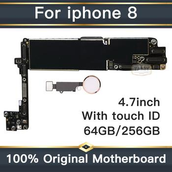 100% Unlocked Logic Board For iPhone 8 Original Motherboard For iPhone 8 With Touch ID Clean iCould ID With Full Chips 1