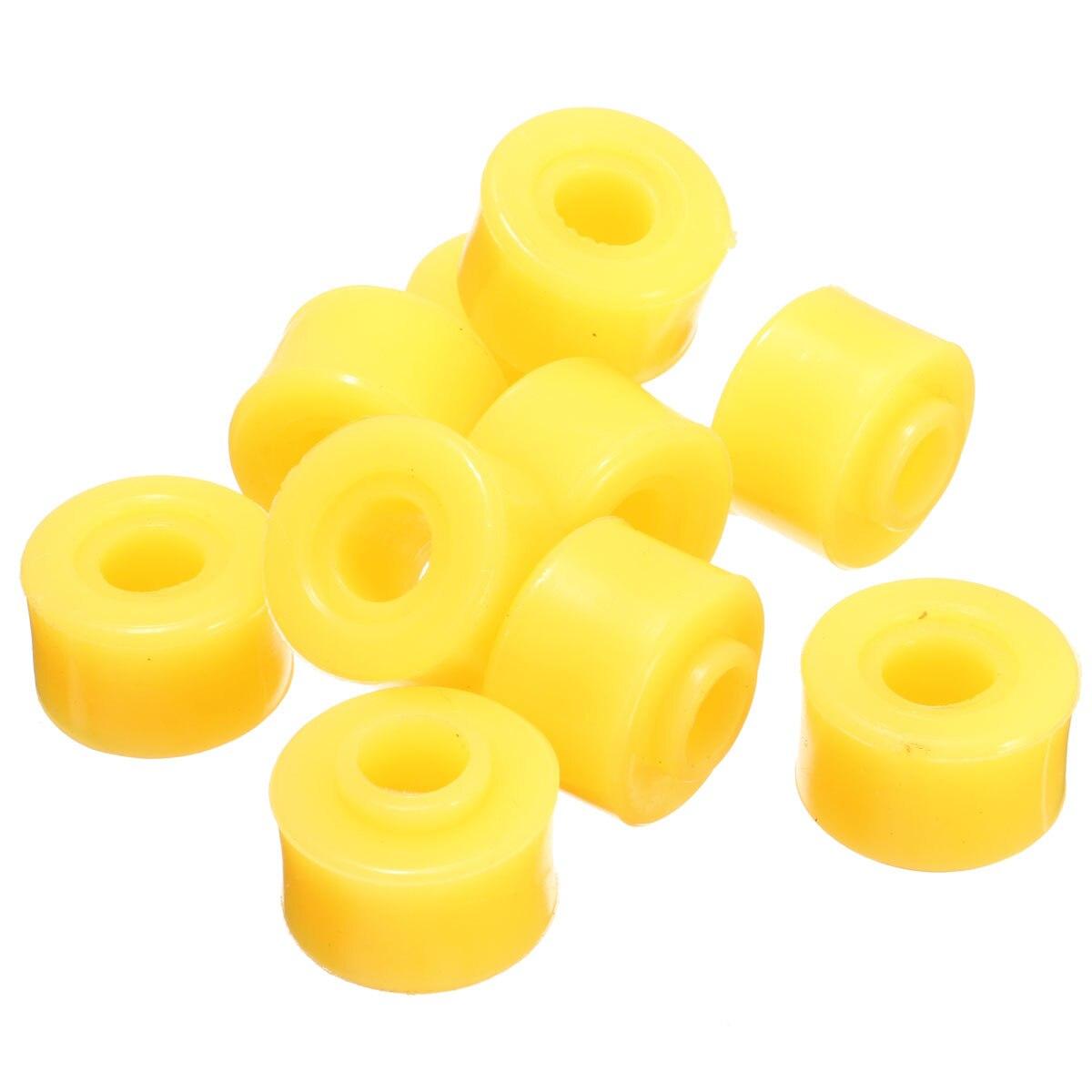 10 มิลลิเมตร 10 ชิ้นด้านใน Dia สีเหลืองโช้คอัพยาง Bushings สำหรับ Auto Car