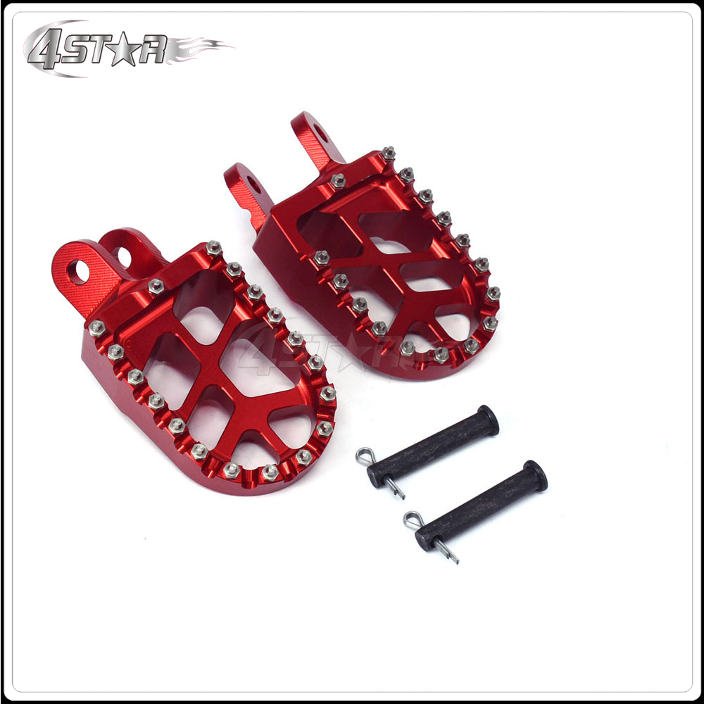 Motorcycle Engine Parts For Honda Xr400 Xr 400 1996 2004: Foot Pegs Pedals Rests For HONDA CR80 XR250 XR400 1996