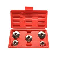 5pc Drive Oil Filter Sleeve Set Universal Wrench Tool Kit Motorcycle Car Repair Tool Wrench Socket Spanner