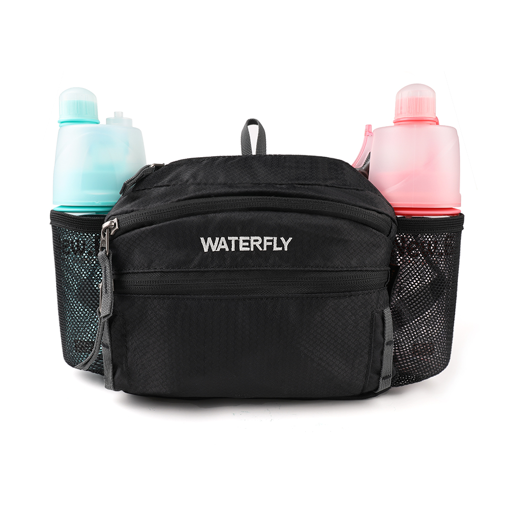 Lightweight Waist Pack with Double Water Bottle Holder Running Pack Sports Lumbar Pack for iPhone X/8 Plus Samsung LG Phones