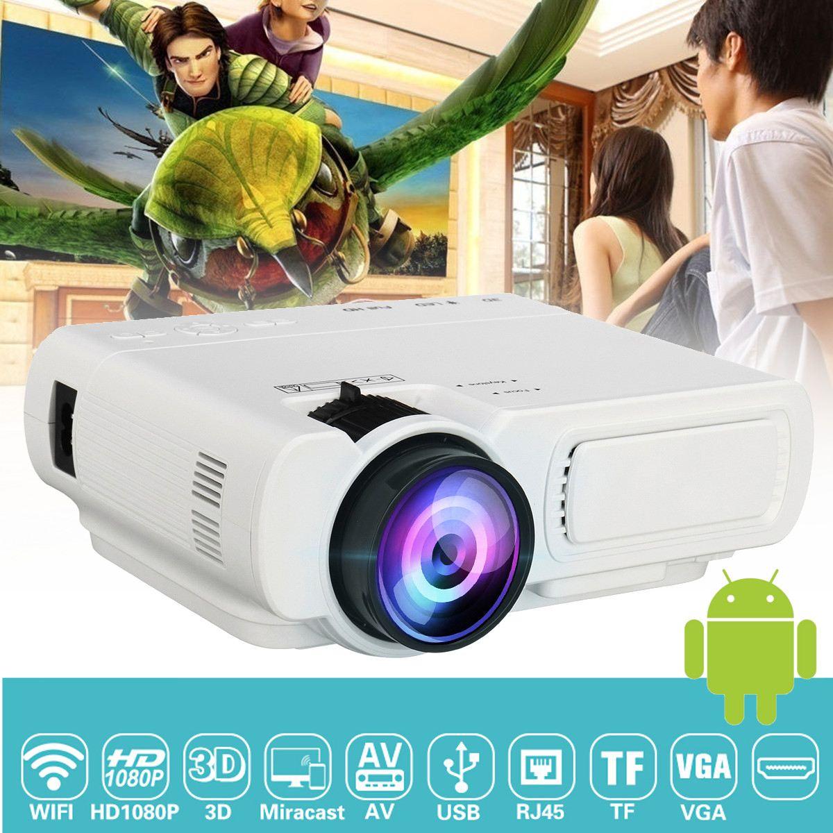 Unterhaltungselektronik DemüTigen Mini Projektor T5 Lcd 7000 Lumen 1080 P Full Hd Wifi Bluetooth Heimkino Android 6.0 Audio Lautsprecher Heimkino Kino