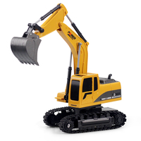Excavator 6 Channel RC Tractor Truck Digger Car Remote Control 2.4G Buggy Toy G Scale 1:24