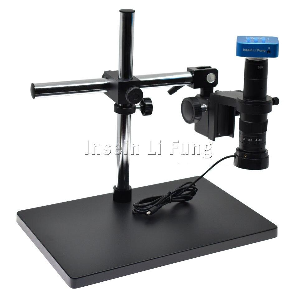 20MP 1080P 2K 4K 60FPS HDMI USB Industry Digital Video Microscope Camera 180X 300X Zoom C